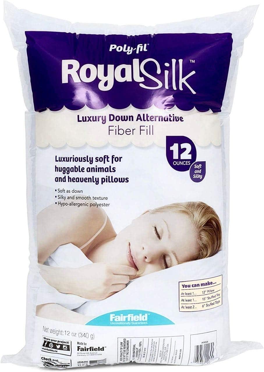 Fairfield PFRS12 Poly-Fil Royal Silk Fiber Fill Bag 12 oz White 2 Pack