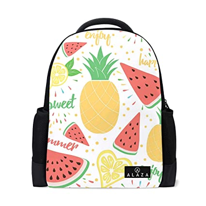 89b144e162c5 Amazon.com: Backpack Watermelon Pineapple Lemon Leaf Summer Womens ...