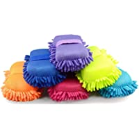 NEXTON Car Washing and Cleaning Duster with Smooth Microfibers and Hand Grip Elastic_Multicolor (1 Pc.)
