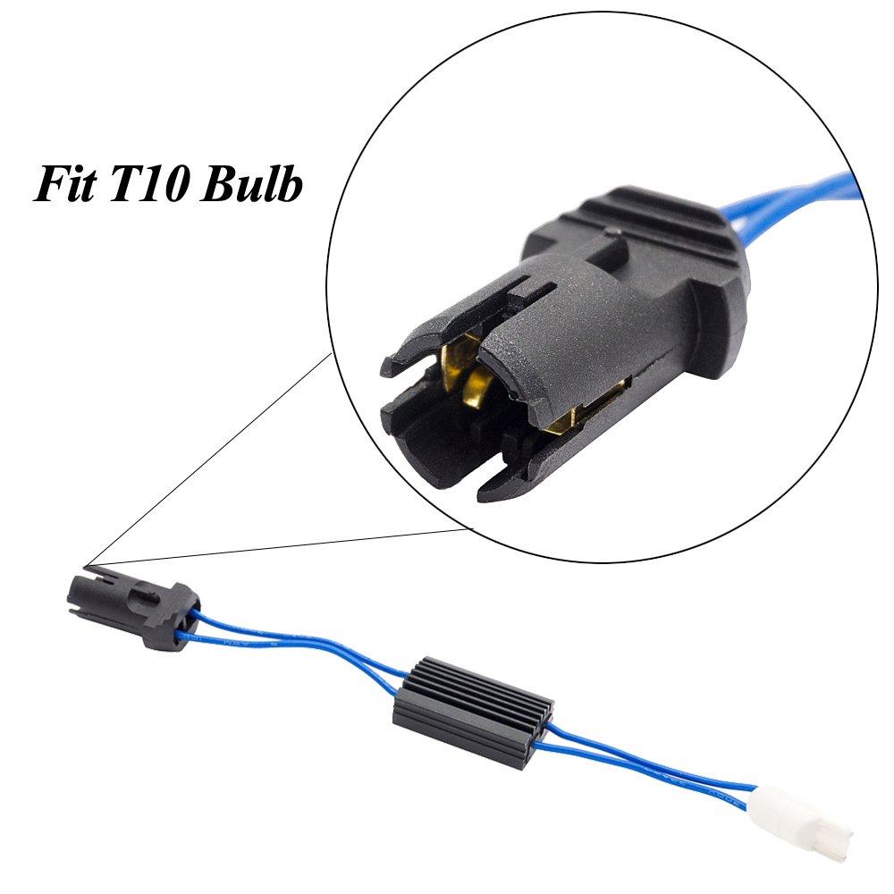 T10 Canbus Led Resistor Warning Canceller Decoder 501 W5W Lights Error Eliminate pack of 2
