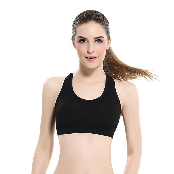 Sujetador deportivo de encaje para mujer, QinMM bra push up yoga fitness running lencería ropa de interier sin aros (Negro, XL): Amazon.es: Ropa y ...