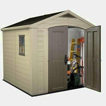 STS SUPPLIES LTD Caja de almacenamiento para cobertizo de jardín (plástico, grande, con