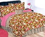 PAISLEY CHIC 9pc Teen Girls Safari Leopard Print Brown and Pink REVERSIBLE Full Comforter(76' x 86')~Shams~Bedskirt & Sheet Set + TOSS PILLOW! (FULL SIZE)