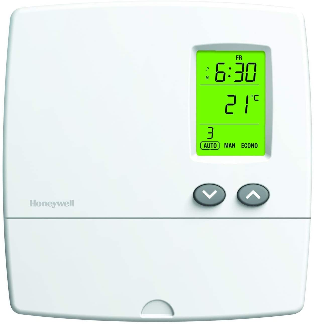 Honeywell Home YRLV4300A1014 Programmable Electric Baseboard Heater Thermostat/Reads Out in Celsius, Convertible to Fahrenheit with Menu, White