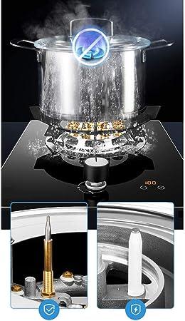 HJJ Negro de cristal incorporado en una estufa a gas Quemador ...