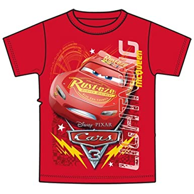 Amazon.com  Disney Youth Boys T-Shirt Lightning McQueen Cars 3 Movie ... 3448e226b