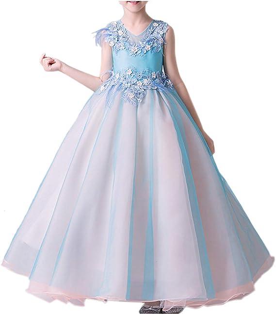 Vestido Fiesta Niña Vestido de Princesa para Fiestas Boda Bautizo ...