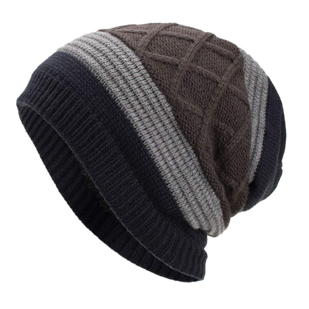 NRUTUP Warm Oversized Chunky Soft Oversized Cable Knit Slouchy Beanie, Deals!(Wine,Free Size)