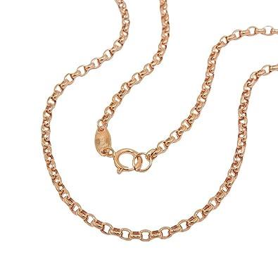 cc15586cd691 2 mm Redondo de ancla cadena collar cadena de joyas de oro de 375 oro rojo  45 cm  Amazon.es  Joyería