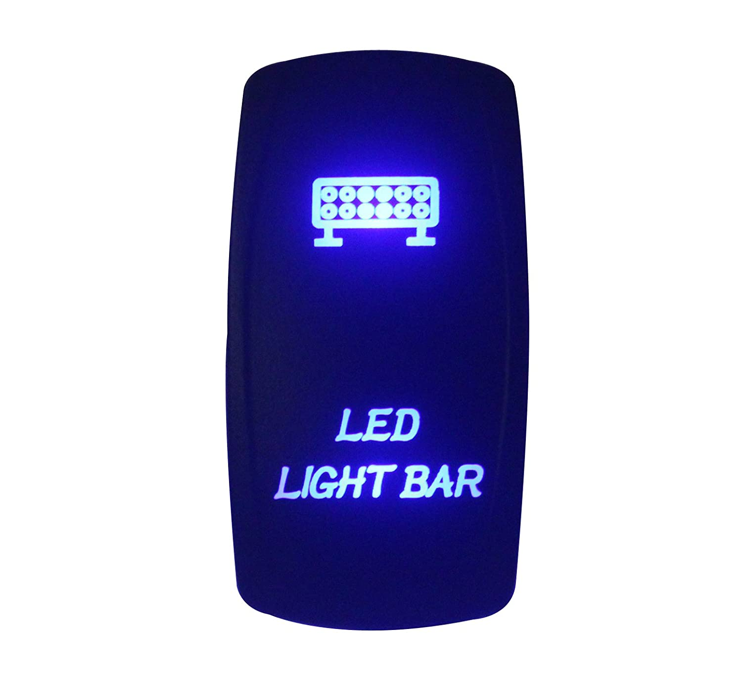 BANDC 12  V/24  V LED barra de luz lá ser grabado Rocker Interruptor LED azul 5  pines SPST ON-OFF para ARB Carling Narva estilo repuesto Marino grado impermeable IP66
