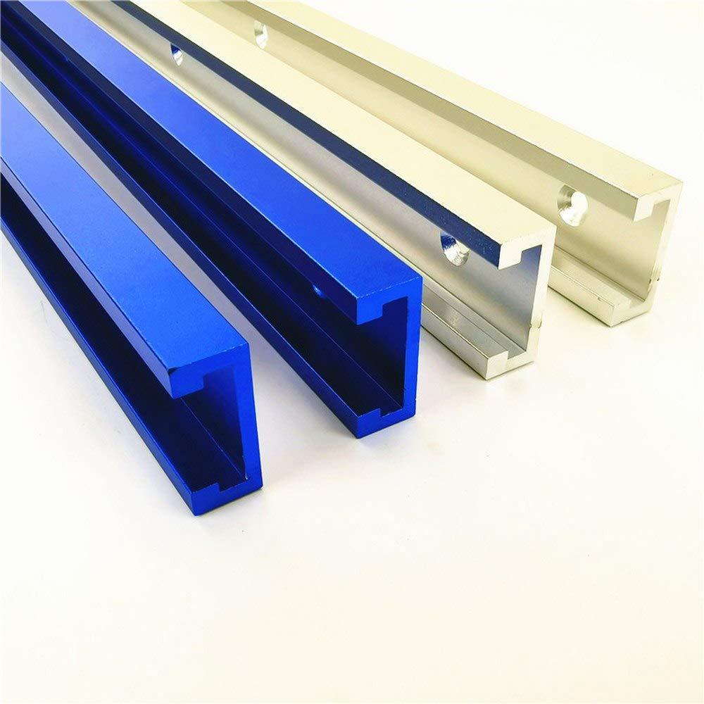 T-Schienen Gehrungsvorrichtungs T Tracks T-Spur T-Schlitz Gehrungsjig-Werkzeuge f/ür Geb/äude und Vorrichtungen Holzbearbeitungsfr/äse 300-800 mm Aluminium 600MM Wei/ß