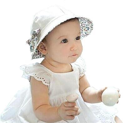 Sumolux Sombrero Pesca Para Bebé Niños Algodón Doble Caras Mariposa  Extraíble Gorro de Alas Anchas Proteger 1ffa1c776ad