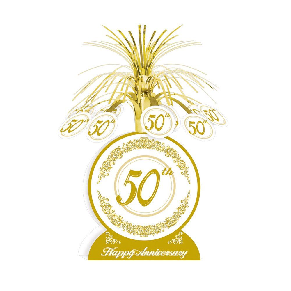 Beistle - 50516 - 50th Anniversary Centerpiece- Pack of 12