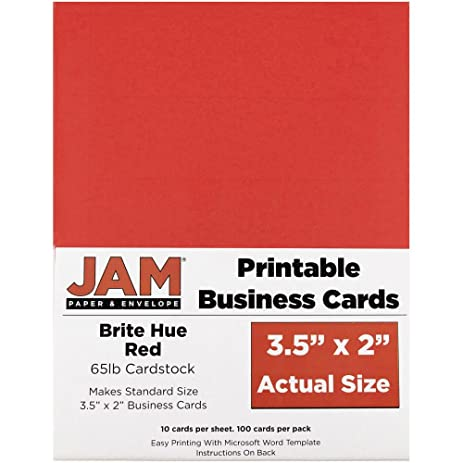 Amazon jam paper printable business cards 3 12 x 2 jam paper printable business cards 3 12quot x 2quot brite reheart Image collections