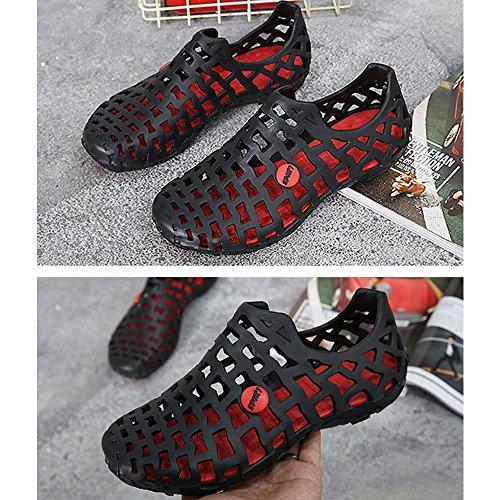 DULEE - Sandalias deportivas de goma eva para mujer negro
