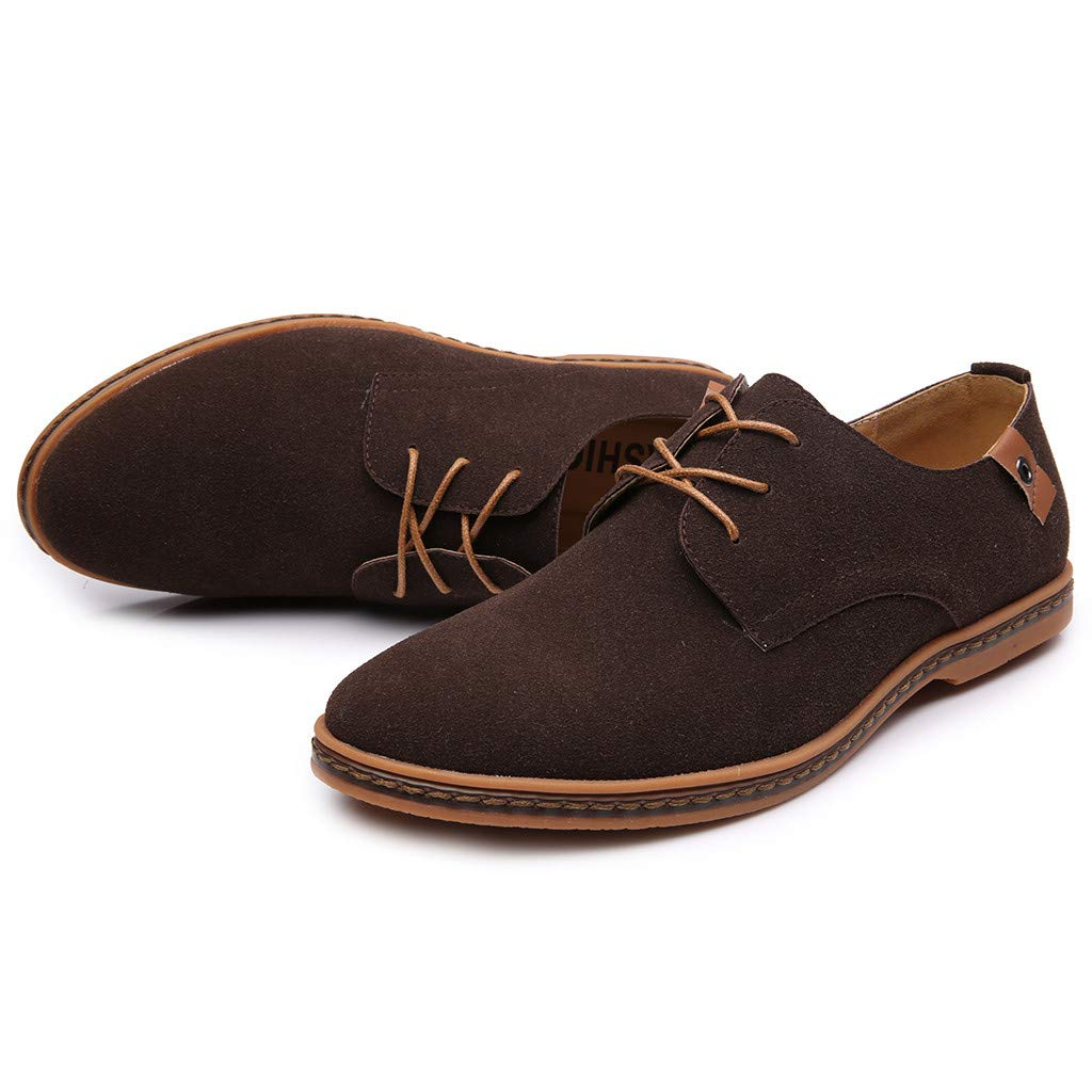 Fashion Casual Solid Lace Up Oxfords Leather Shoes Male Formal Leisure Trend Shoes KESEELY Men Business Shoes