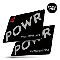 POWR 2 X RFID Card Protector | Signal Blocking Cards | Contactless Card Protection | Prevent Contactless Payment Card Fraud by Keeping one of These Cards in Your Wallet or Purse