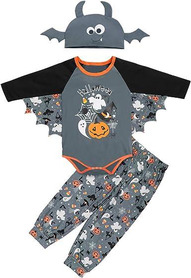 Mummy Pants Hat Pajamas Outfits Newborn Infant Baby Girls Boys Halloween Romper