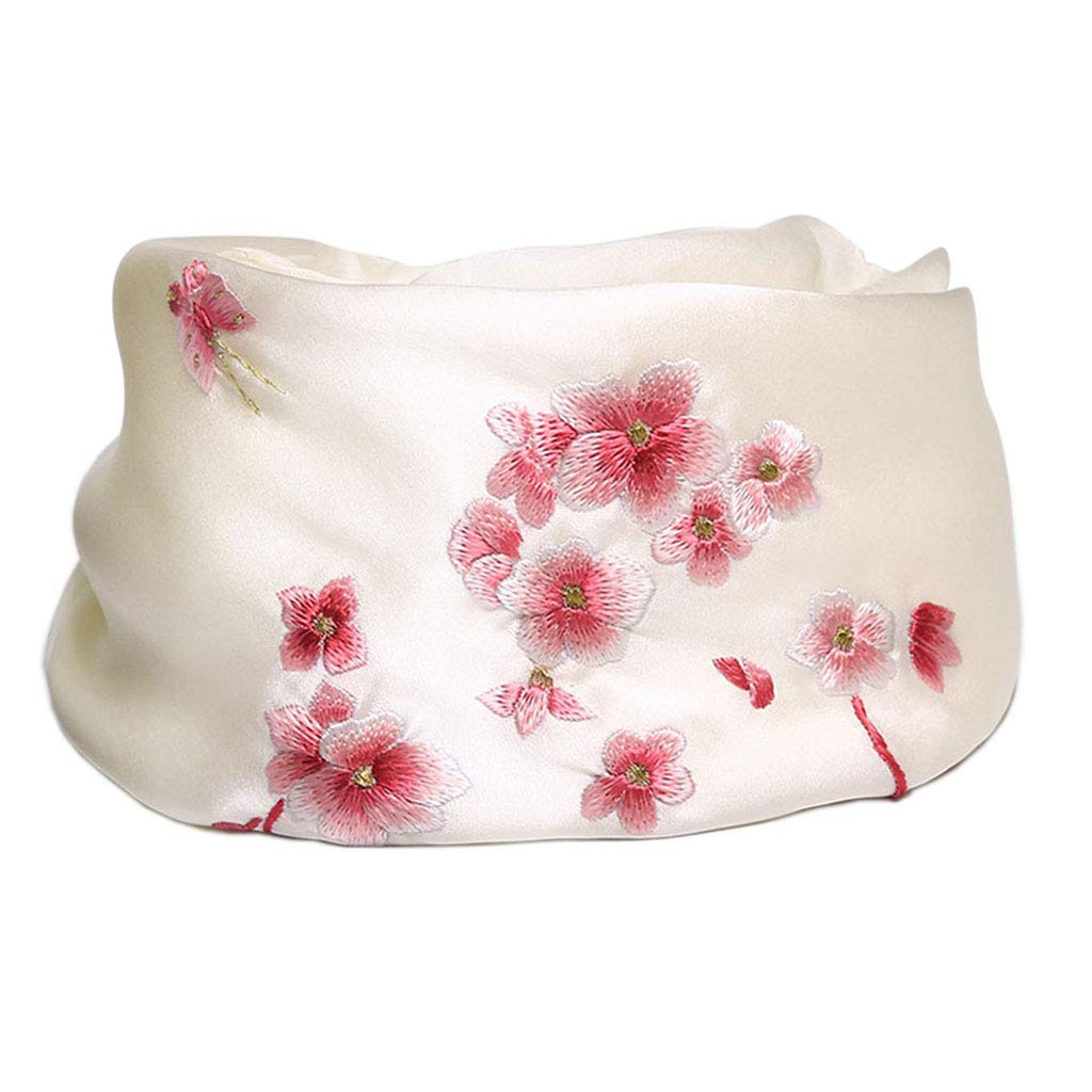 C Stoles Shawl Silk Embroidered Silk Scarf Spring Winter Thin Scarf Ladies Shawl Silk Scarves Beautiful Shawl (color   C, Size   195  60cm)