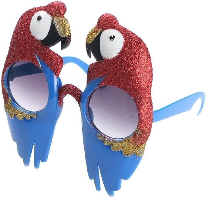 Ponce - Gafas para Disfraz de Loro Escarlata con Forma de ...