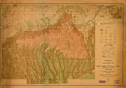 Amazon.com: Vintography Reprinted 8 x 12 Nautical Map of Topographic ...