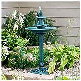 Unbranded* Garden Water Fountain Fish Pedestal Bird Bath Pump Patio Birdbath Yard Outdoor
