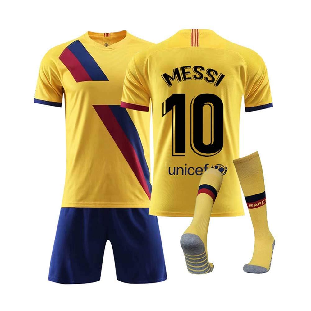 COOLBOY 10# Messi Kits de Jersey de Club de f/útbol para Hombres Pantalones y Calcetines 2019//20 Jersey de f/útbol para ni/ños con Camiseta