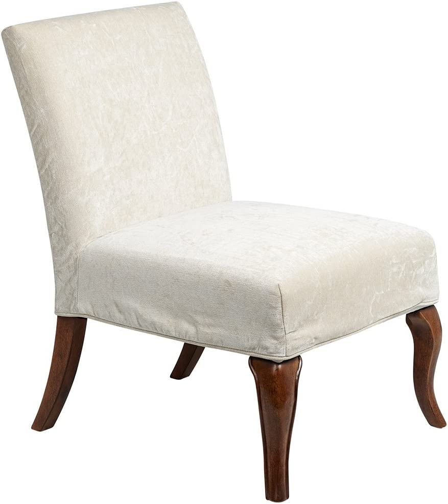 Amazon Com Bailey Street 6091938 Buck Slipper Chair Cover Natural Wood Finish With Cream Fabric Shade Home Kitchen