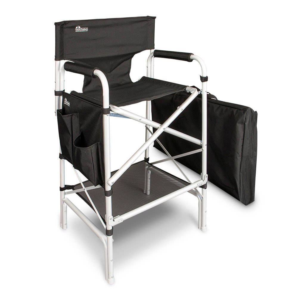 Earth Heavy Duty VIP Tall Aluminum Directoru0027s Chair