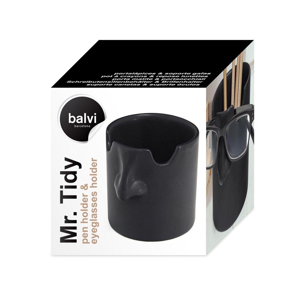 balvi Stifte-/und/Brillenhalter/Mr./Tidy Farbe/schwarz/Legen/Sie/Ihre/Brille/in/Heim/und/B/üro/Immer/am/gleichen/Ort/ab/Aus/Keramik