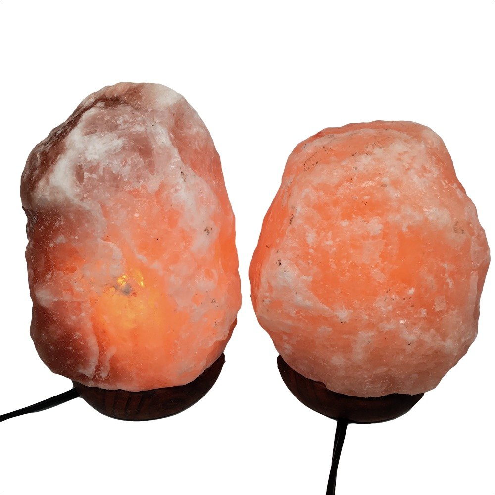 2x Himalaya Natural Handcraft Rough Raw Crystal Salt Lamp 6.5''-7.25''Tall, X0106, Exact Item will be Delivered