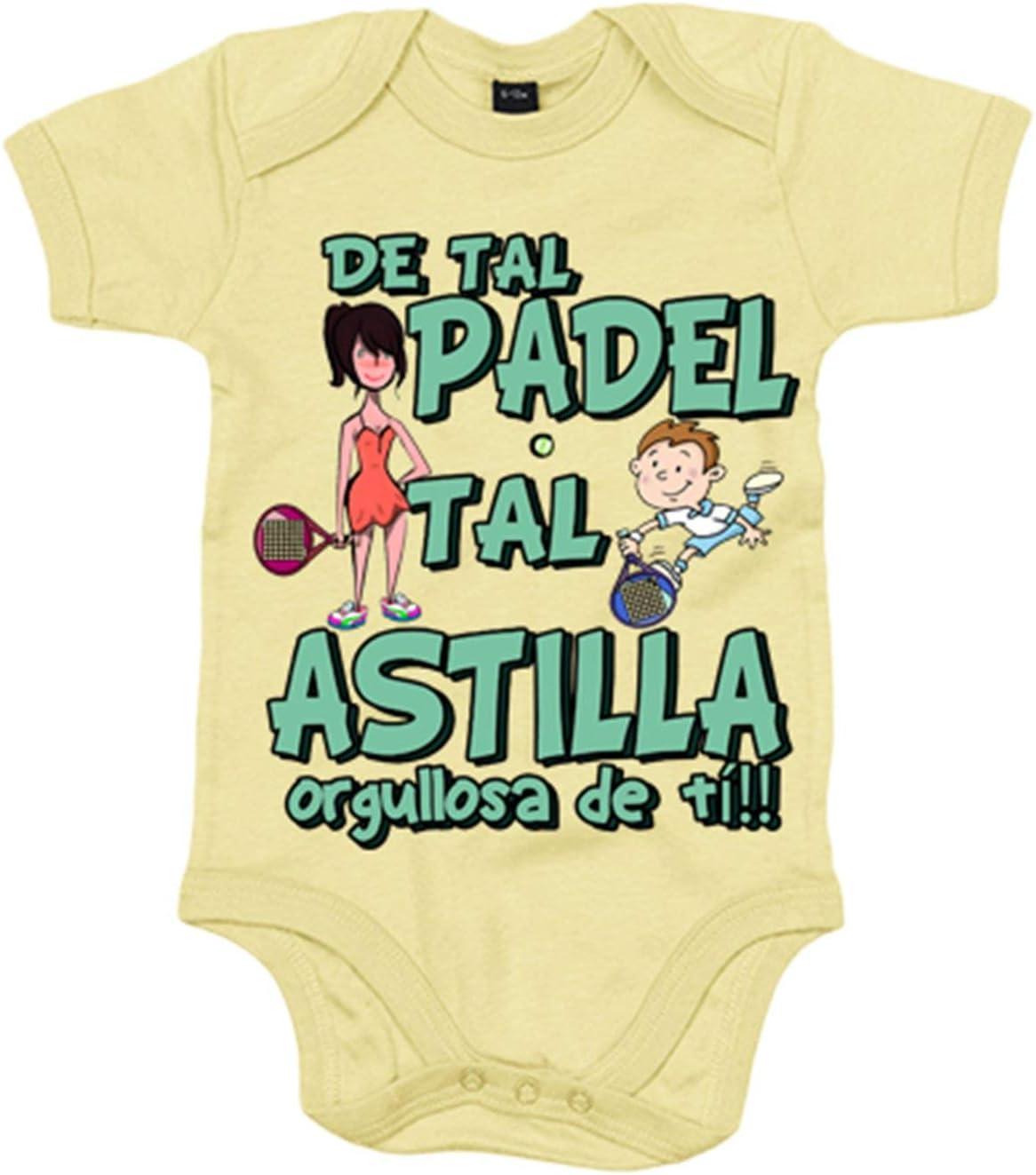 Body bebé madre y niño de tal padel tal astilla orgullosa de ti - Amarillo, 12-18 meses