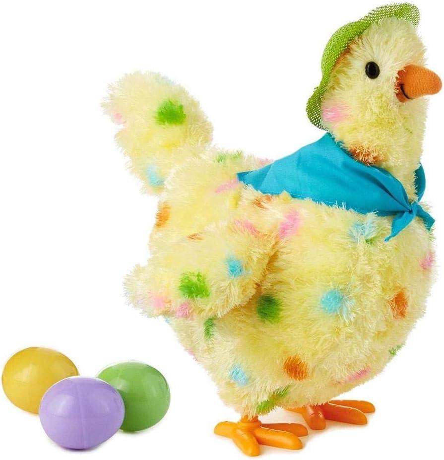 KJSMA Juguete De Gallina Huevos De Gallina Huevos De Peluche Interactivos Un Divertido Juguete De Pollo Caminar En La Naturaleza Hochada De Pollo Gadget Juego