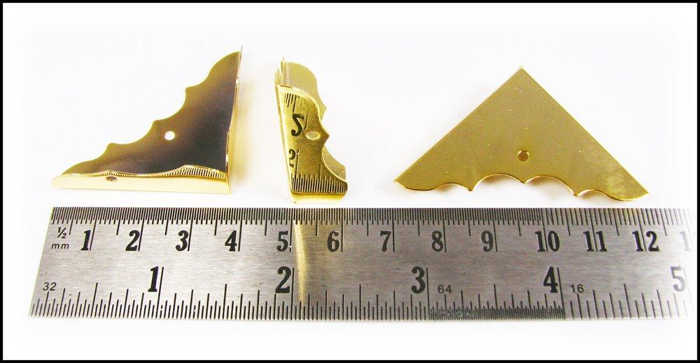 Beautiful Shiny Gold Box Corners w//mounting screws 24pcs