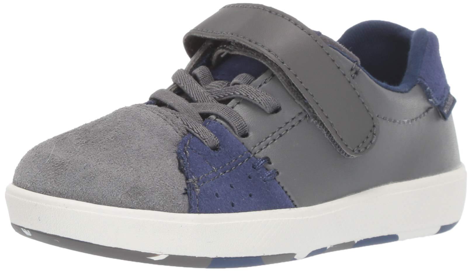 Stride Rite Boys' M2P Maci Sneaker, Grey/Navy, 6 W US Toddler by Stride Rite