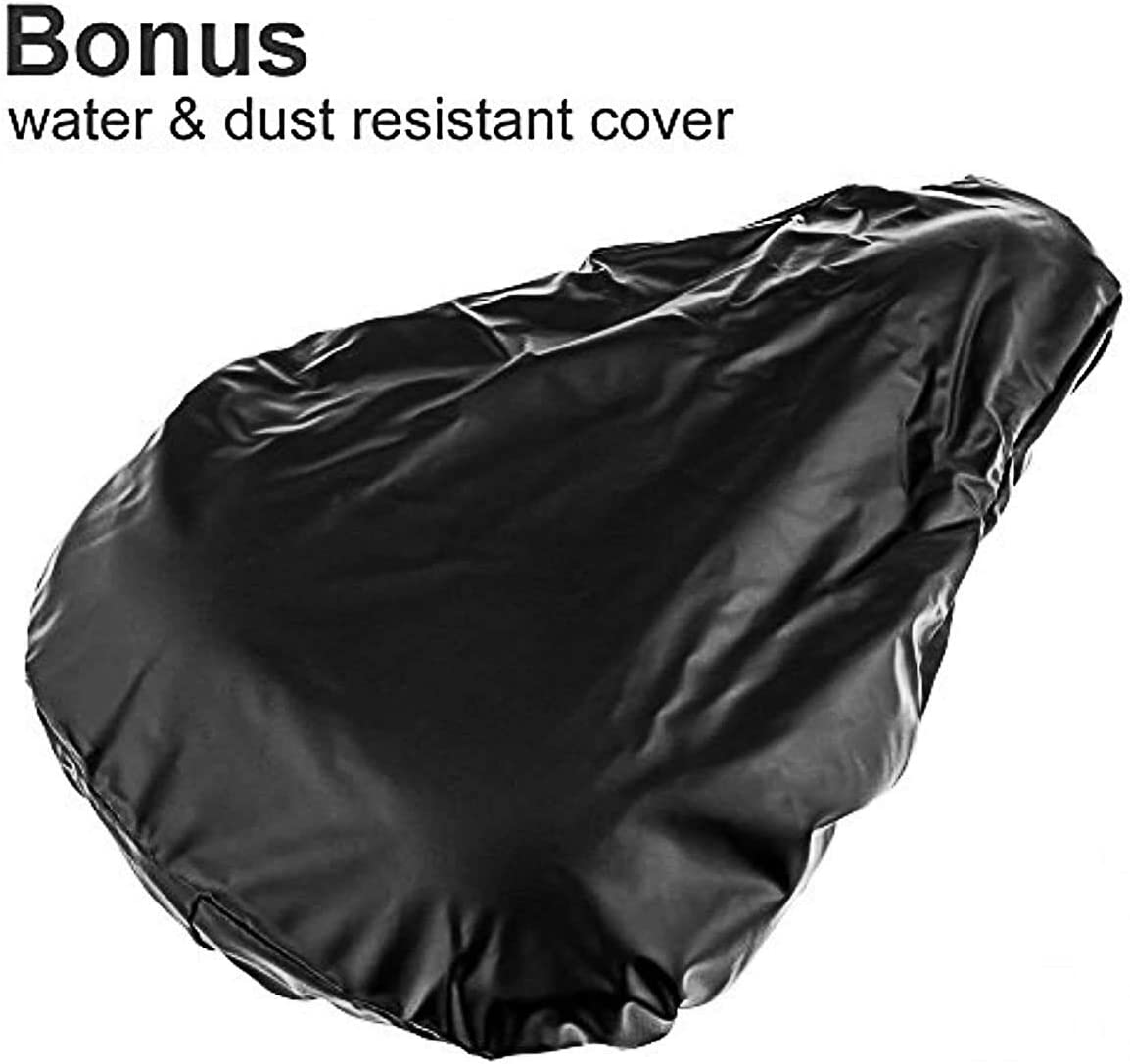 Breathable and Non-Slip Padded Cover for Bicycle Saddle. HeavenRGB Extra Soft Padded Gel Bike Seat Cushion