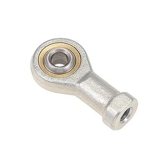 4pcs 6mm Male Left Hand Thread Rod End Joint Bearing Metric Thread M6x1.0mm