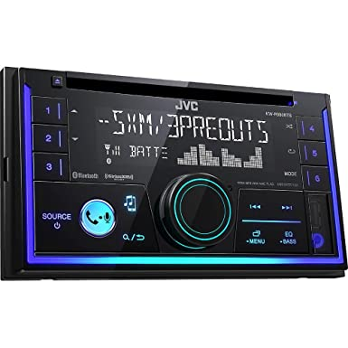 JVC KWR930BT Car Stereo – Double Din, Bluetooth, CD,MP3 USB AM FM Radio, Multi Color Illumination