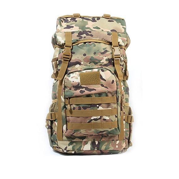 Marr/ón 56 cm Protector Plus Plus Tactisch Rucksack 50L Wasserdicht MOLLE Trekkingrucksack Gro/ßer Kapazit/ät Mochila Tipo Casual Brown