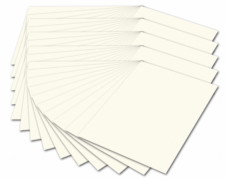 folia 614/50 01 Fotokarton (300 g/m², DIN A4, 50 Blatt) perlweiß 50 Blatt) perlweiß