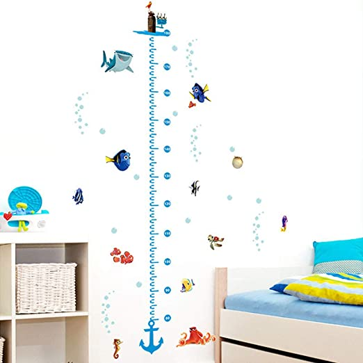 Removable Baby Size Height Measurement Nursery Decal Sticker Home Wall Decal