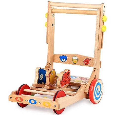 Cochecito de bebé de madera para bebés, andador de bebé ...