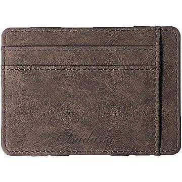 HOTUEEN Men Casual Creative Portable Multi-layered Square Short Purse Wallets, Card Cases & Money Organizers