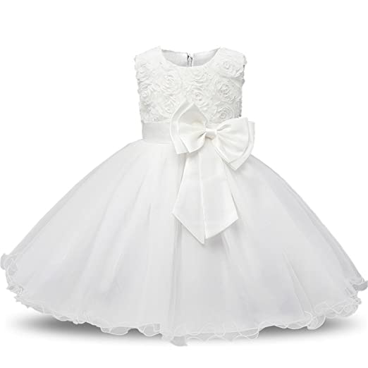 74ea15c1d2de Amazon.com  Huainsta Newborn Baby Dress Kids Party Wear Princess ...