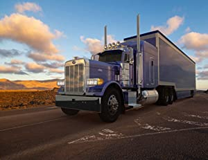 "5D DIY Diamond Painting Kits Truck American Peterbilt Truck Semi Trailer Driven Desert Road 12"" X 16"" Full Drill Painting Arts Craft Canvas for Home Wall D¨¦cor Cross Stitch Gift"