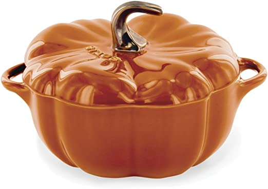 Amazon.com: 16-oz Petite Cocotte de calabaza, color naranja ...