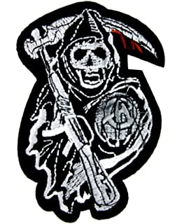 Sons Of Anarchy Reaper Crew Patch Iron On Applique Alternative Clothing SAMCRO