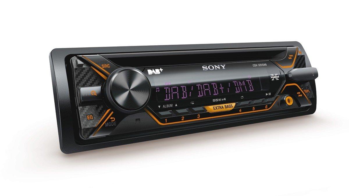 Radio para Coche Sony CDX-3201DAB Negro 220 W Negro, 1 DIN, 220 W, 4.0 Canales, 55 W, CD-R,CD-RW