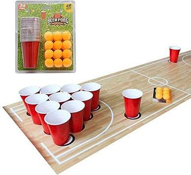 Set de 48 psc de Beer Pong - Entretenimiento Americano de Beber - Juegos de Beber para Fiestas -