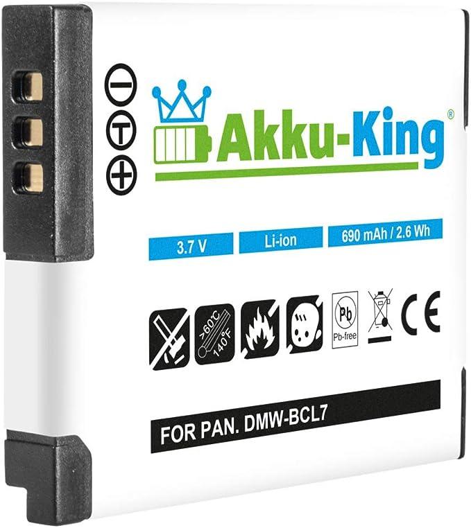 Akku King Akku Kompatibel Mit Dmw Bcl7 Dmw Bcl7e Kamera